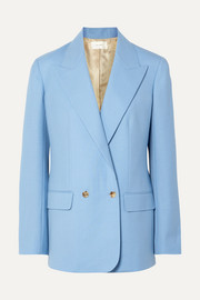 The Row Pesner oversized grain de poudre wool blazer