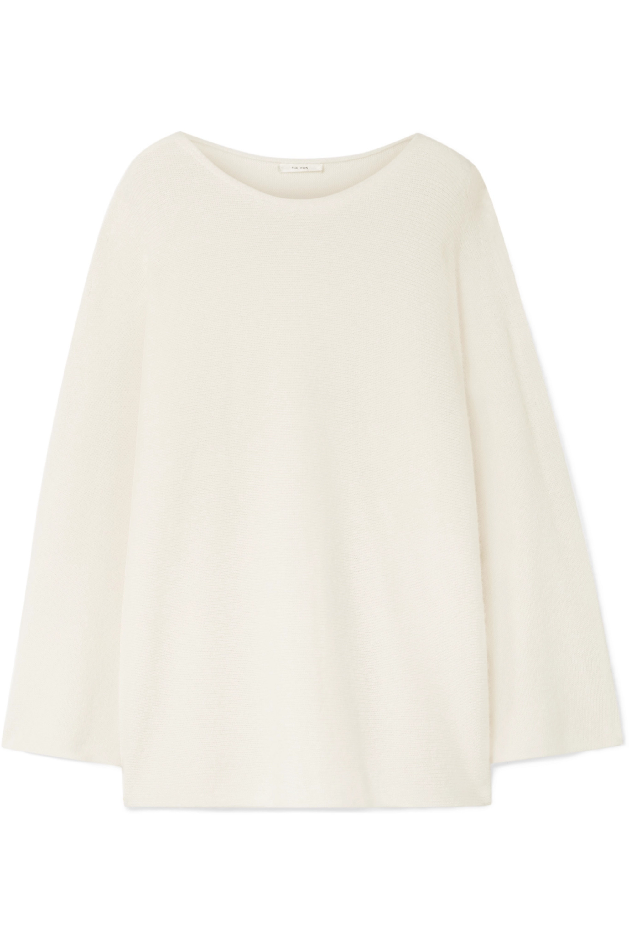 The Row Clyde oversized cashmere and silk-blend sweater