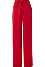 The Row JR stretch-silk georgette wide-leg pants