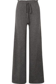 The Row Elisia cashmere-blend wide-leg pants