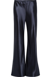 Gala satin wide-leg pants