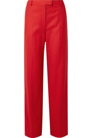 The Row Lada grain de poudre wool straight-leg pants