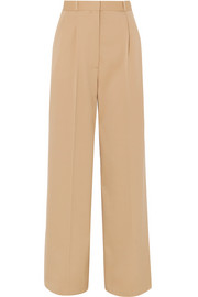 The Row Elin wool-blend twill wide-leg pants