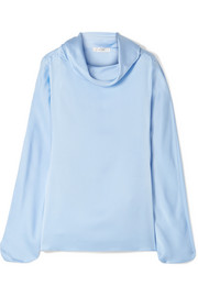 The Row Iona oversized silk-satin top