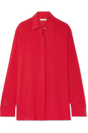 The Row Big Sea oversized silk crepe de chine shirt