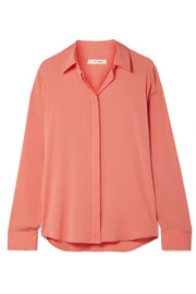 The Row Petah silk-blend crepe de chine shirt