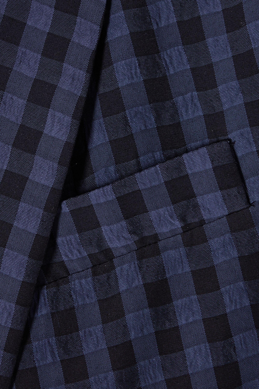 Tibi Oversized gingham seersucker blazer