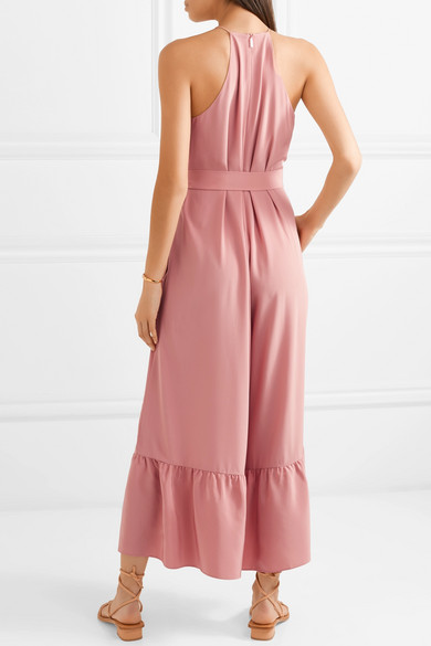 Ruffled Silk Crepe De Chine Jumpsuit by Tibi