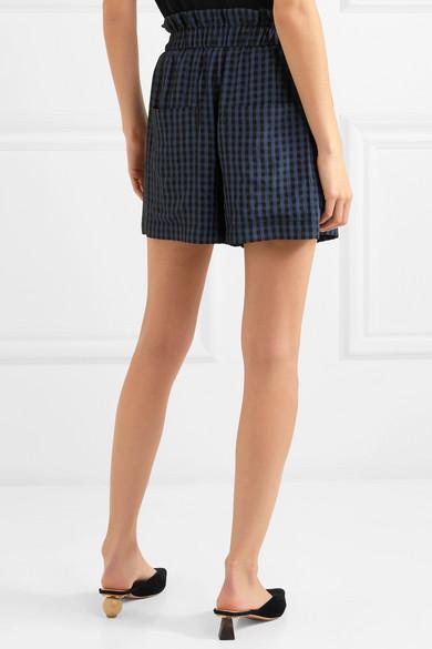 Gingham Seersucker Shorts - Navy Tibi Cheap Deals Y0FtjSLwY