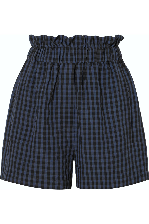 Tibi Gingham seersucker shorts