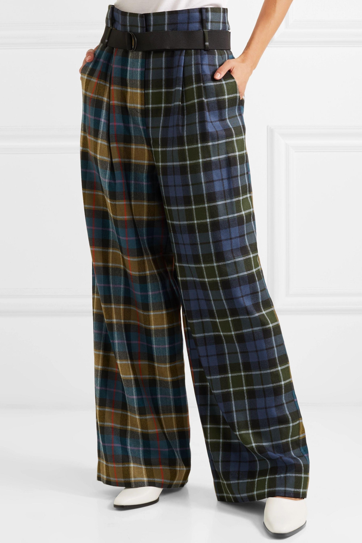 Tibi Stella tartan wool pants