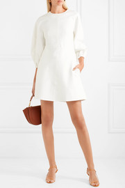 Tibi Button-embellished stretch-jersey mini dress