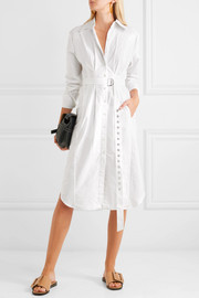 Tibi Watts cotton Oxford midi dress
