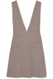 See By Chloé Checked woven mini dress