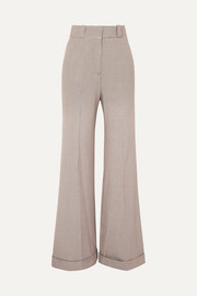Checked tweed wide-leg pants