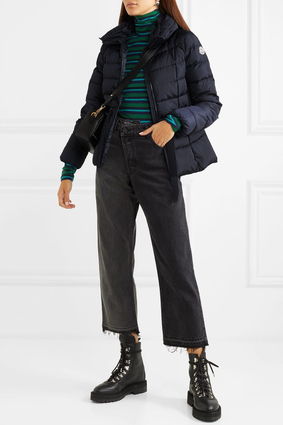 Moncler Belted quilted shell down jacket