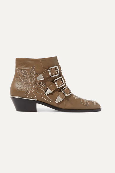 Susanna Leather Ankle Boots - Brown Size 11
