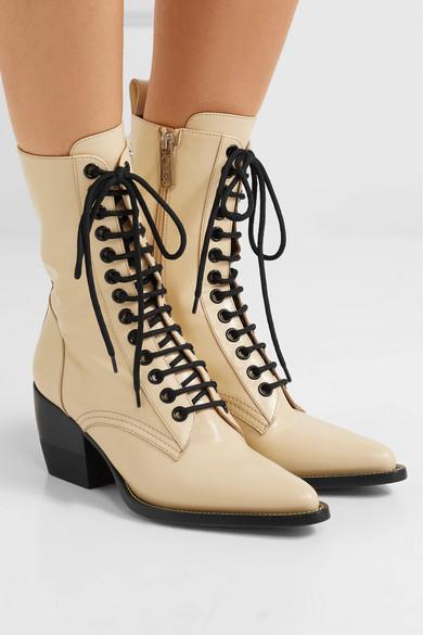 Chloé | Glanzleder Rylee Ankle Boots aus Glanzleder | 938005