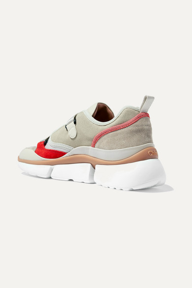 Chloé   Sonnie Sneakers aus Leder Canvas, Mesh, Veloursleder und Leder aus 8b1e61