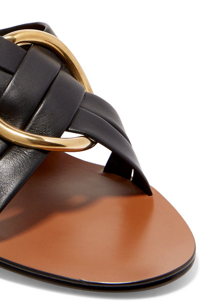 Chloé | Leder Rony verzierte Mules aus Leder | 8f0bb5