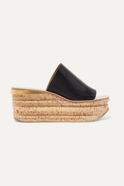 Camille leather wedge sandals