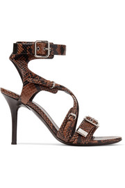 Chloé Scottie snake-effect leather sandals