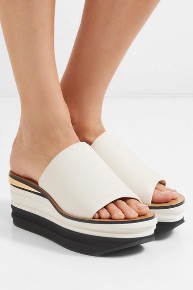 b9b07b1dab Chloé   Camille leather wedge sandals   NET-A-PORTER.COM
