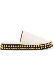Chloé Sawyer studded leather platform slides