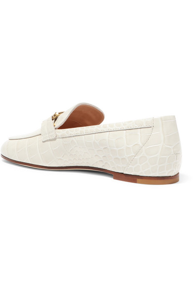 abe612da1ec Tod s. Embellished croc-effect leather loafers.  645. Zoom In