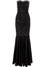 Dolce & Gabbana Sequined stretch-tulle gown