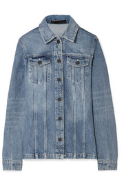 Paneled denim jacket