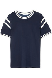 T by Alexander Wang Striped stretch-jersey T-shirt