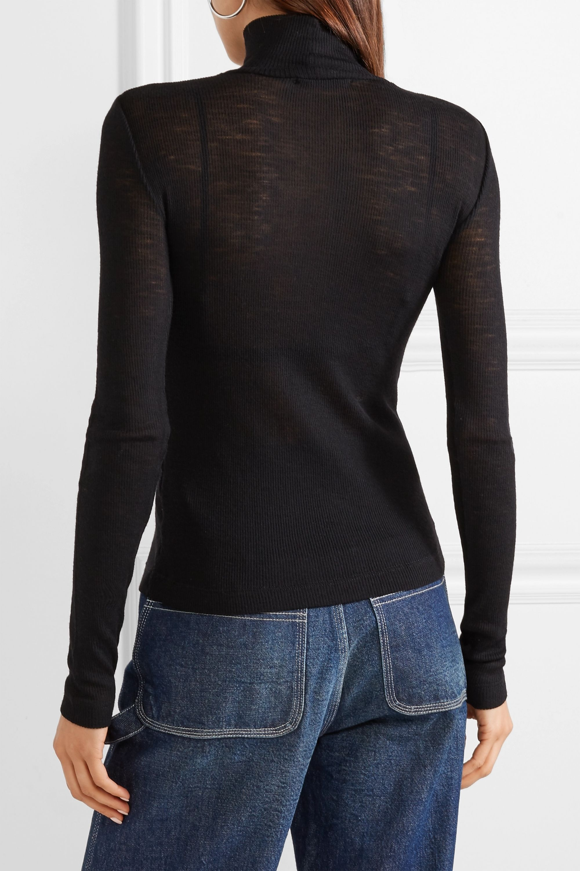 alexanderwang.t Ribbed wool turtleneck sweater