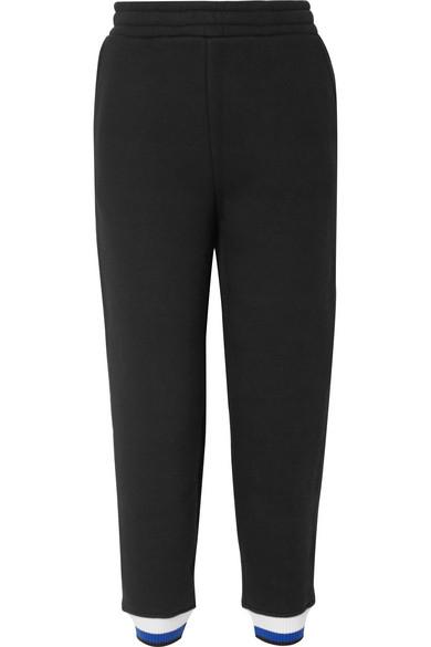 T by Alexander Wang - Cotton-blend Fleece Track Pants - Black