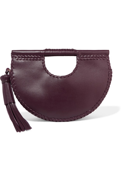 ULLA JOHNSON MELORA WHIPSTITCHED LEATHER TOTE