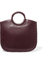 Amaia whipstitched leather tote