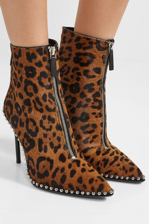 Leopard print Eri studded leopard-print