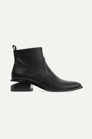 Alexander Wang Kori Stretch Black Leather Booties