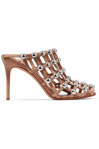 Sadie Studded Slip-On Suede Sandals