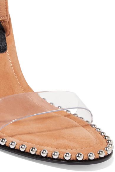 d78ecc1bd74651 Alexander Wang. Nova Slingback-Sandalen aus Leder und PVC mit Nieten.  €543.32. Zoom
