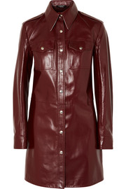 CALVIN KLEIN 205W39NYC Leather mini dress