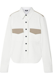 Two-tone cotton-twill shirt