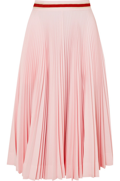 Pleated Crepe Midi Skirt by Calvin Klein 205 W39 Nyc