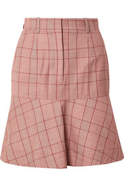 CALVIN KLEIN 205W39NYC Prince of Wales checked wool mini skirt