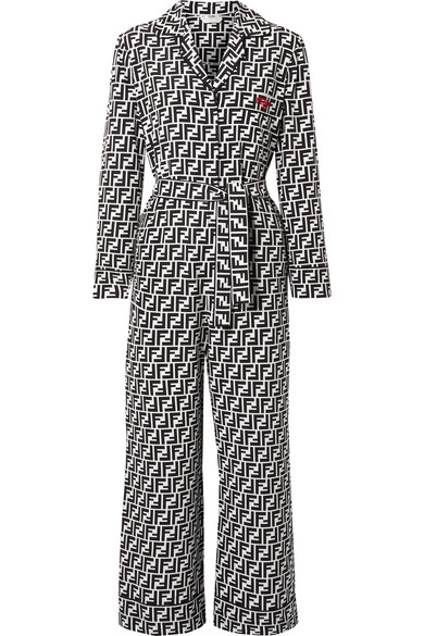 printed-silk-crepe-de-chine-jumpsuit by fendi