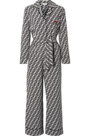Fendi Printed silk crepe de chine jumpsuit