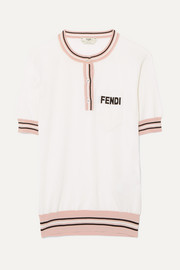 Fendi Striped silk top