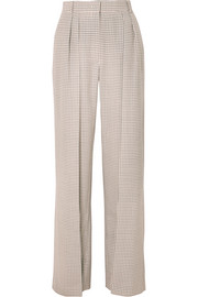 Fendi Pleated checked wool wide-leg pants