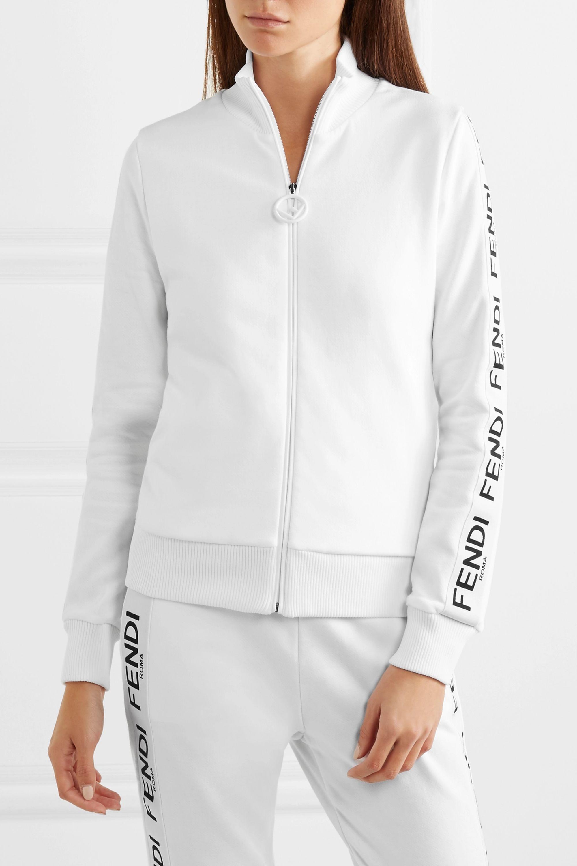 Fendi Wonders cotton-blend jersey track jacket
