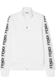Fendi Wonders cotton-blend jersey track jacket